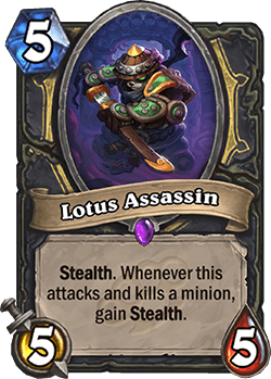 Lotus Assassin HS Rogue Card