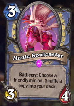 Manic Soulcaster HS Mage Card