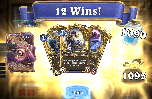 MrYagut 12 Win Heroic Tavern Brawl Rewards