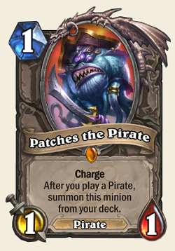 Patches the Pirate HS Legendary Card