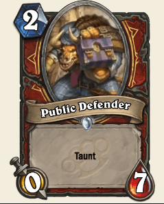 Public Defender HS Warrior Card