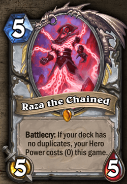 Raza the Chained HS Legendary Priest Card