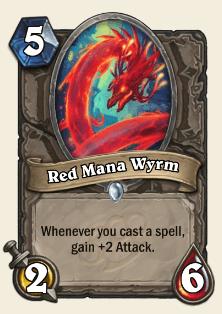 Red Mana Wyrm HS Card