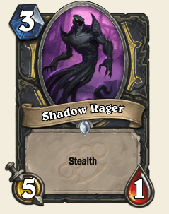 Shadow Rager HS Rogue Card