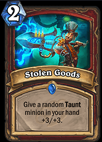 Stolen Goods HS Warrior Card