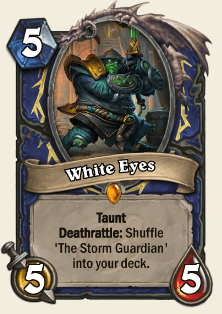 White Eyes HS Shaman Legendary Card