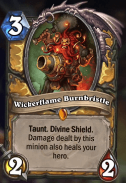 Wickerflame Burnbristle HS Paladin Card Legendary