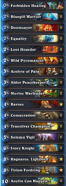 Murloc Paladin Season 32 Nov 2016
