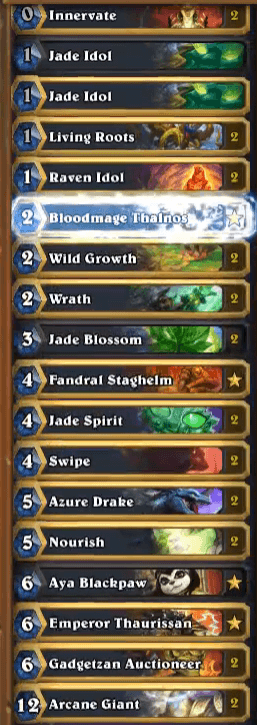 Amaz Jade Golem Druid Deck Mean Streets of Gadgetzan