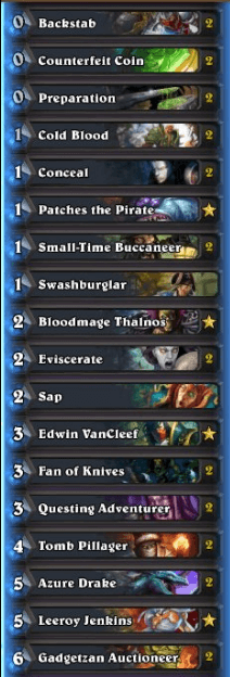 Best Rogue Deck January 2017 Season 34