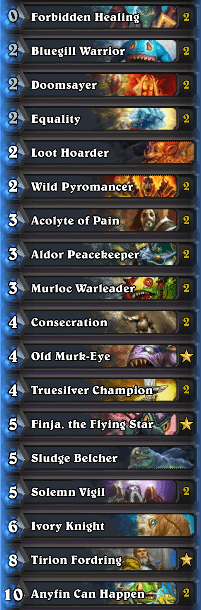 Best Wild Decks January 17 Murloc Paladin