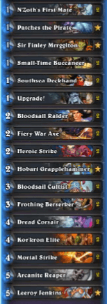 Cydonia ATLC Pirate Warrior Gadgetzan List