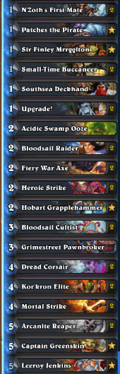 Forsen Gadgetzan Pirate Warrior Deck