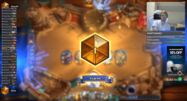Savjz Rank 1 Legend Gadgetzan Reno Priest Deck Proof