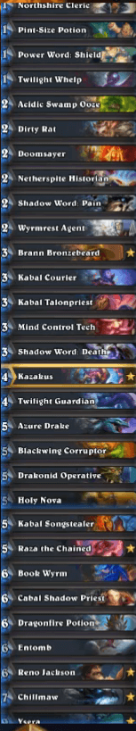 Savjz Rank 1 Legend Gadgetzan Reno Priest Deck