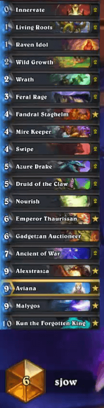 Sjow Gadgetzan Ramp Druid w Aviana and Kun