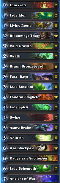 Strifecro Jade Druid w Bloodmage Deck Esports Superstars