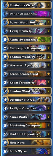 Thijs Dragon Priest w Defender of Argus