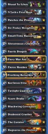 Thijs Gadgetzan Pirate Dragon Warrior Deck