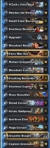 Thijs Pirate Warrior Gadgetzan Deck w Patches