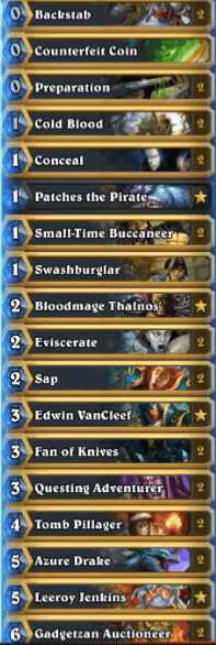 Tyler Gadgetzan Miracle Questing Rogue Deck