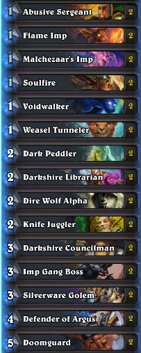 Weasel Tunneler Deck Discardlock with a Twist