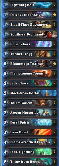Wild Format Aggo Shaman Legend Deck Dec 16