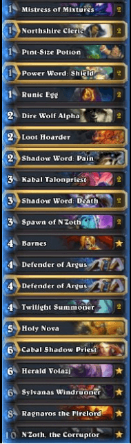 Zetalot Gadgetzan Zoo N'Zoth Priest Legend Deck