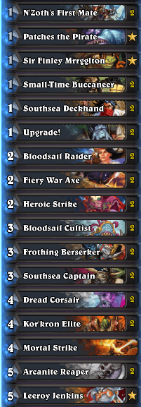Best Pirate Warrior Deck February 2017 Season 35