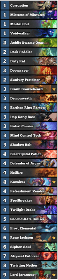 Best Warlock Deck February 2017 Season 35