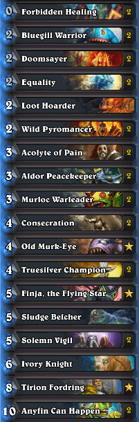 Best Wild Deck Murloc Paladin February 17 Season 35