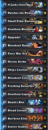 Best Wild Pirate Warrior Deck February 17 Season 35
