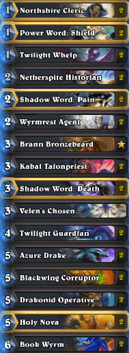 Best Wild Deck Dragon Priest February 17 Season 35