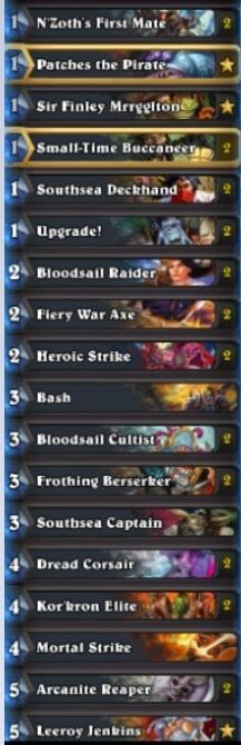 RDU Pirate Warrior Deck Winter Prelims 2017
