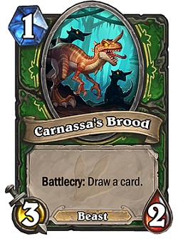 Carnassa's Brood HS Hunter Card