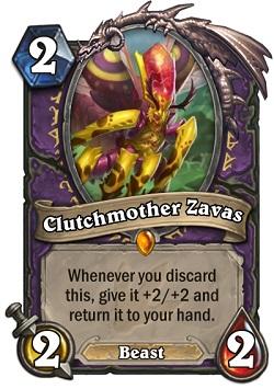 Clutchmother Zavas HS Warlock Card
