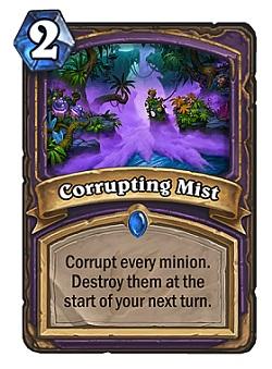 Corrupting Mist HS Warlock Card