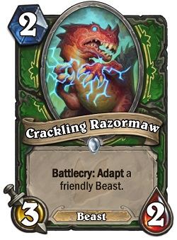 Crackling Razormaw HS Hunter Card