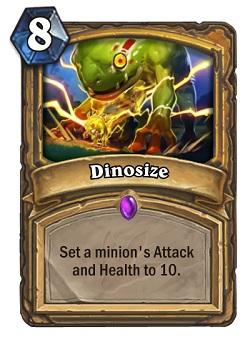 Dinosize HS Paladin Card