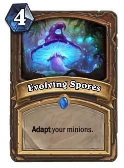 Evolving Spores HS Druid Card