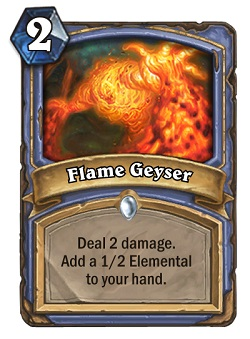 Flame Geyser HS Mage Card