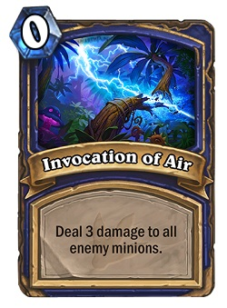 Invocation of Air HS Shaman Card