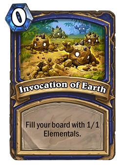 Invocation of Earth HS Shaman Card