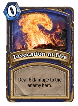 Invocation of Fire HS Shaman Card