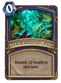 Invocation of Water HS Shaman Card