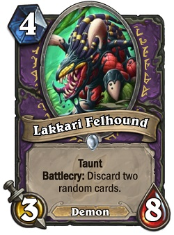 Lakkari Felhound HS Warlock Card