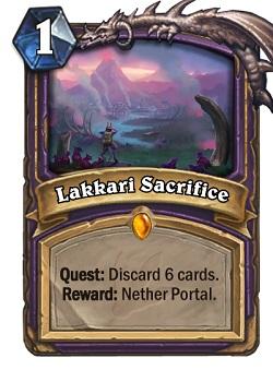 Lakkari Sacrifice HS Warlock Card