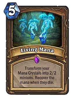 Living Mana HS Druid Card