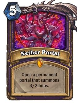 Nether Portal HS Warlock Card