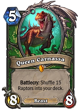 Queen Carnassa HS Hunter Card